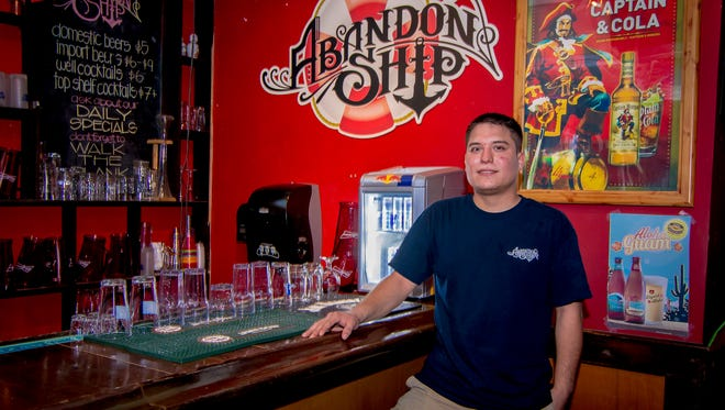Tony Cruz, owner of Abandon Ship, photographed at his bar in Tumon on Nov. 11.