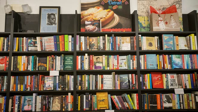 Shelves filled with books during Small Business Saturday at Pages Bookshop on Saturday afternoon Nov. 26, 2016 in Detroit. Elaine Cromie/Detroit Free Press
