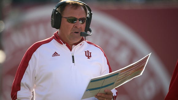 Indiana Hoosiers coach Kevin Wilson resigned Thursday.