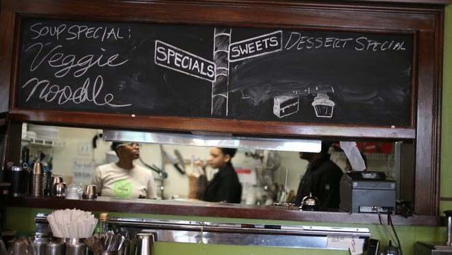 Detroit Vegan Soul in Detroit's West Village district on Tuesday, May 3, 2016.