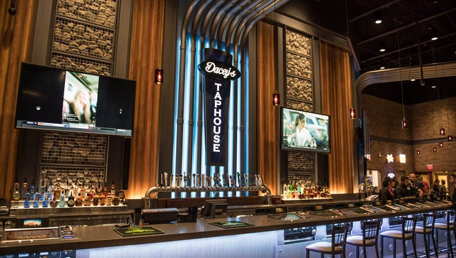 Dacey's Taphouse at FireKeepers Casino Hotel in Emmett Township carries more than 50 Michigan-based and national beer brands including Arcadia Ales and Dark Horse Brewing Co.