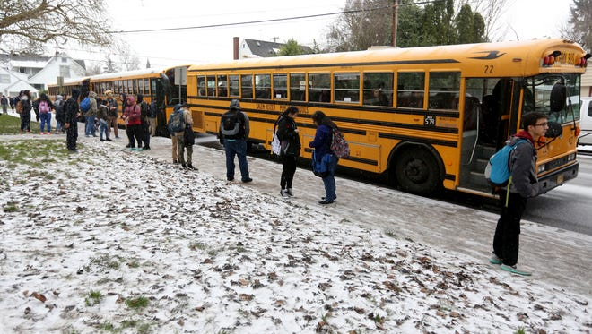 Many school districts lost classroom time during snowstorms. The state mandates how many hours students must be in school each year.