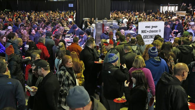 Three thousand people flocked to Return Of The Mac: Indy's First Mac and Cheese Festival Jan. 8, 2017, at Pan American Pavilion.