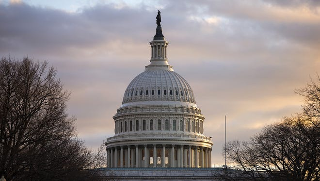 The United States Capitol, seen in Washington D.C., Wednesday, Jan. 18, 2017, is the location of the inauguration ceremony for President-elect Donald Trump this Friday, Jan. 20, 2017.