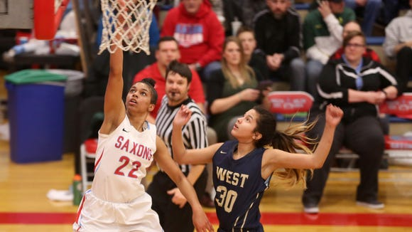 "South Salem's Evina Westbrook (22) said she has a connection on the court with Dani Harley that ""just clicks."""