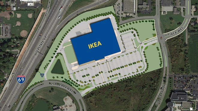 Site Plan of the Future IKEA Fishers, IN (opening Fall 2017).