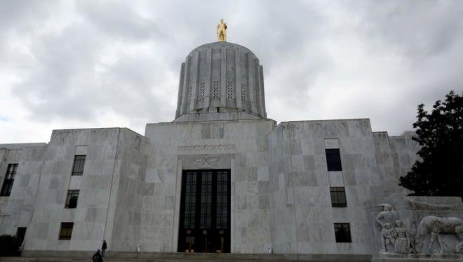 The Oregon State Capitol in Salem on Thursday, Jan. 26, 2017.