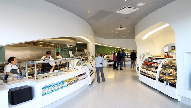 The University of Iowa Children's Hospital cafeteria is pictured on Friday, March 3, 2017.