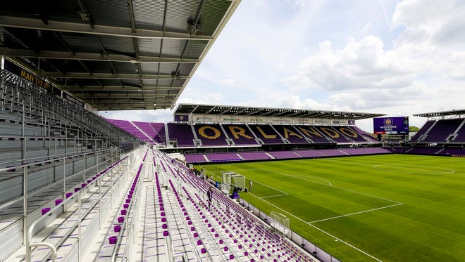 A general view of Orlando City Stadium is seen before a game between Orlando City FC and New York City FC.
