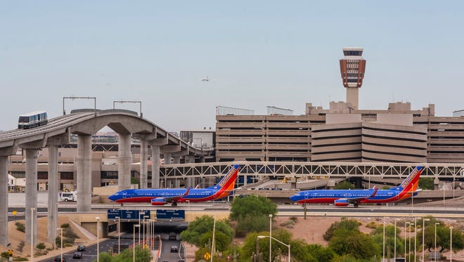 Southwest Airlines is the second busiest carrier at Sky Harbor International Airport after American Airlines.