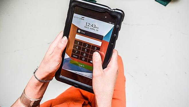 Telmate offers a tablet for use in prison and jail facilities. Some jail facilities, like in Monroe and Marshall counties, use the devices.