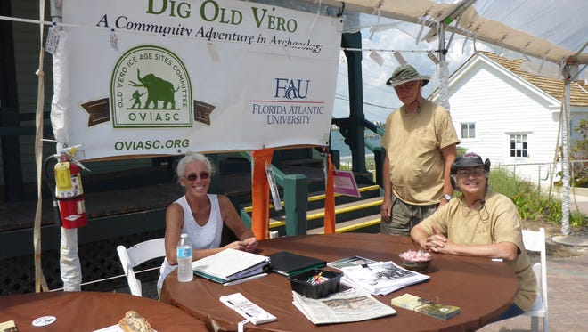 Volunteers share artifacts and information about the Old Vero Man Site at the Down and Dirty Archaeology Fest in March at the House of Refuge Museum.