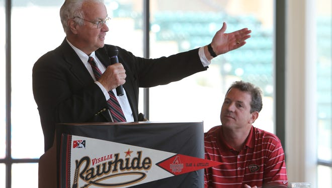California League President Charlie Blaney discusses ballpark improvements in Visalia.