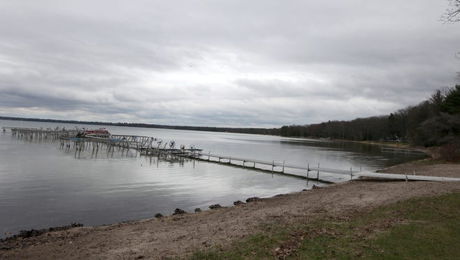 Private beach access on Higgins Lake.