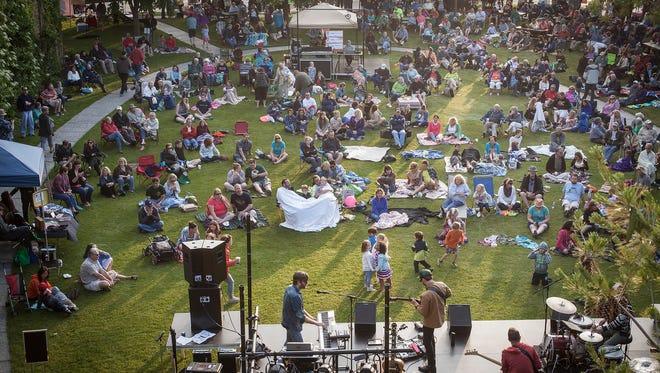 The free Levitt AMP Sheboygan Music Series brings Sheboyganites out in droves.