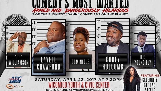 Comedy's Most Wanted comes to Salisbury on April 22, 2017.