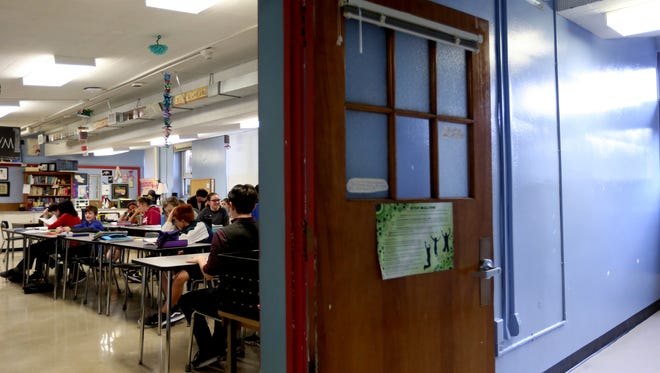 A humanities classroom at Howard Street Charter School in Salem on Wednesday, April 19, 2017.