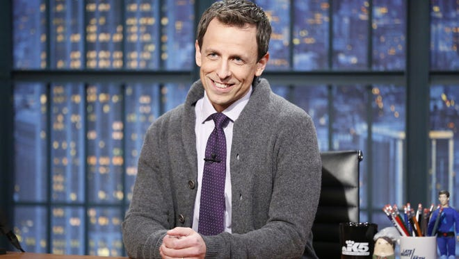 Host Seth Meyers during the 'Back In My Day' skit  on NBC's 'Late Night with Seth Meyers.'