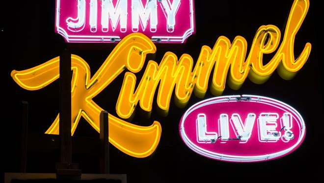 An Jimmy Kimmel live logo is part of the House Industries: A Type Of Learning at the Henry Ford Museum of American Innovation.