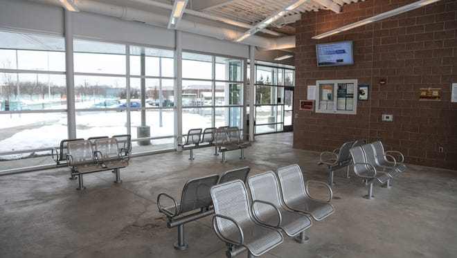 The interior of the Troy Transit Center in Troy on December 21, 2016. A court order allows SMART buses to resume pickups at the Amtrak station.