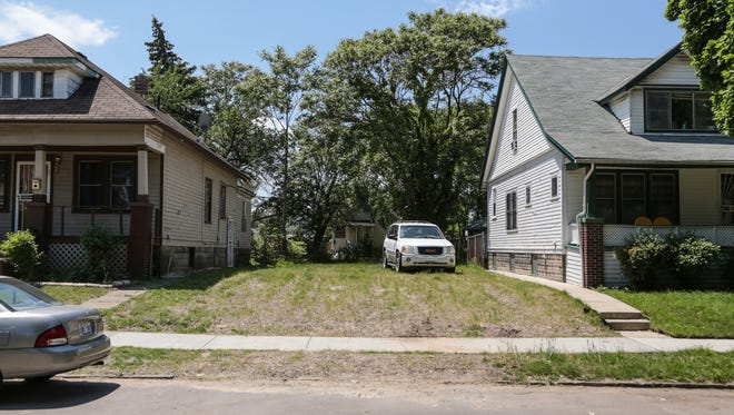This is lot where Daniel Murray's family home once stood. The Detroit Land Bank Authority had it torn down.