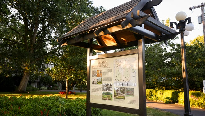 Six new interpretative signs have been placed in Bush's Pasture Park, featuring information about the history of the park as well as public anecdotes. The new signage marks the completion of a six-year, $60,000 project by the Friends of Bush Gardens, in partnership with Salem Parks.