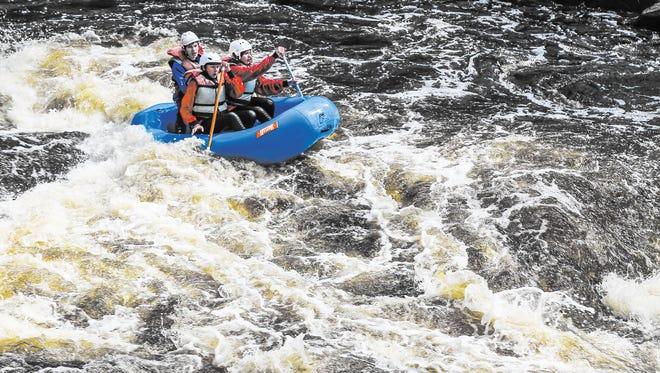 Whitewater Rafting with Wildman Adventure.