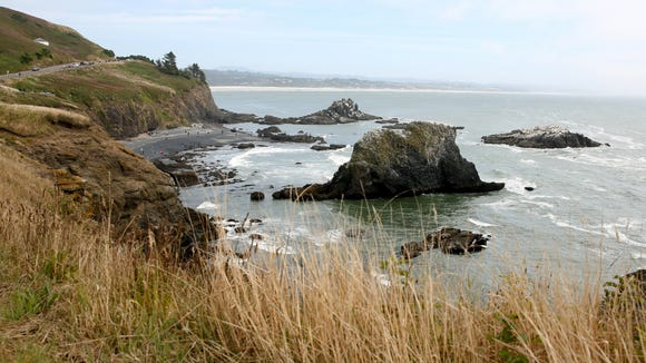 A view from the Yaquina Head Lighthouse in Newport,