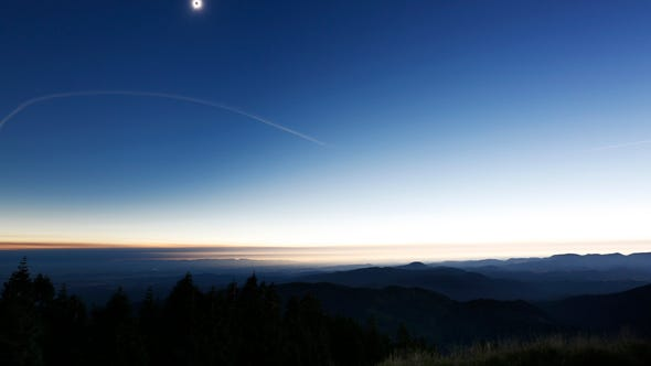 The Great American Eclipse at totality seen from Marys