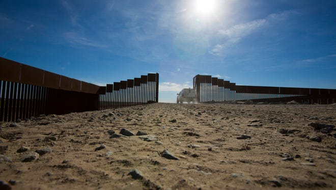 The U.S. border in Yuma, Ariz.