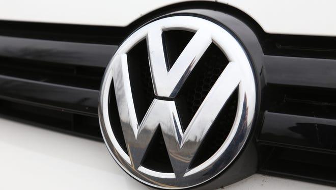 The logo on a Volkswagen in Auburn Hills in November 2013.