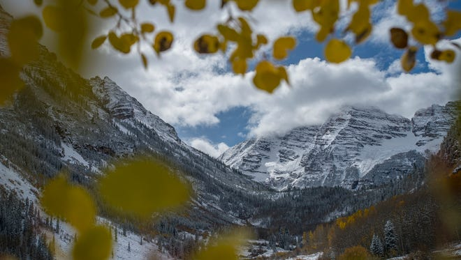 Three climbers have been rescued by helicopter from the Maroon Bells in Colorado.