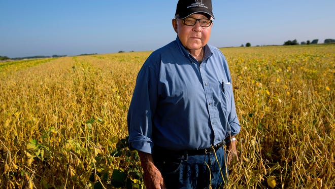 Gerry Weiss in his field in Grant County, Wisconsin.