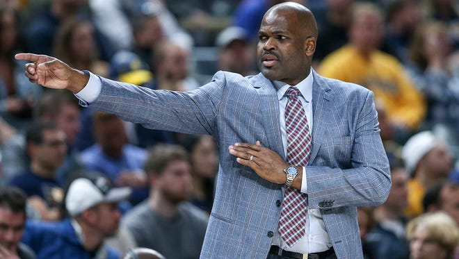 Indiana Pacers head coach Nate McMillan during second half action between the Indiana Pacers and the Sacramento Kings at Banker's Life Fieldhouse, Indianapolis, Tuesday, Oct. 31, 2017. The Pacers won, 101-83.