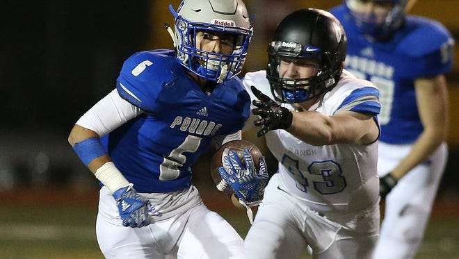 Poudre's Zach Leal lead all area receivers in receiving yards with 705 yards and 5 TDs.