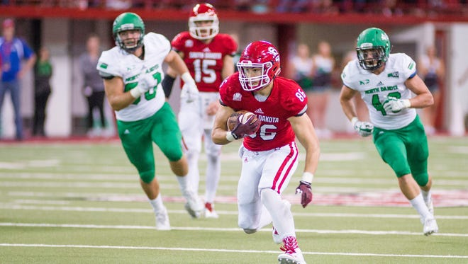 USD senior tight end Josh Hale has found a home in the Coyotes' hurry-up offense.