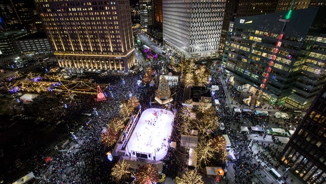 The 2017 Detroit Tree Lighting at Campus Martius Park in downtown Detroit, on Nov. 17, 2017.