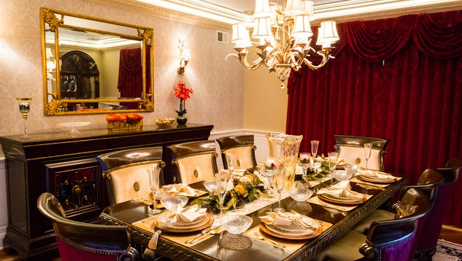 Thoughtfully designed, this tablescape is elegantly set for holiday entertaining.