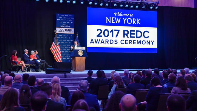 Gov. Andrew Cuomo announces the 2017 Regional Economic Development Council awards in Albany this past December.