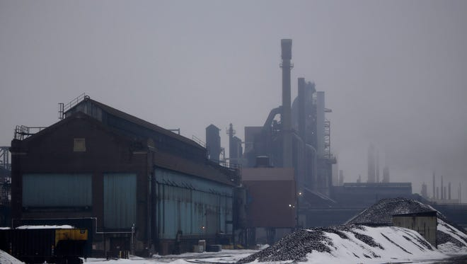 The state DEQ is proposing to revise the emissions permit for Severstal Steel in Dearborn to allow for some toxic pollutants such as lead, carbon monoxide, and PM10 (fine dust) to be doubled, tripled, quadrupled, even increased by more than 7200 percent.  The new limits on the permit will reflect what's actually been emitted from the plant for years, so in that way it's not an increase in allowed pollution, they say. Thursday Feb. 20, 2014. Mandi Wright/Detroit Free Press