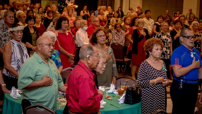"World War II survivors and their families gathered to celebrate the Christmases lost to war during the 2017 ""Christmases Not Forgotten"" event. Virgilio Valencia /For Pacific Daily News"