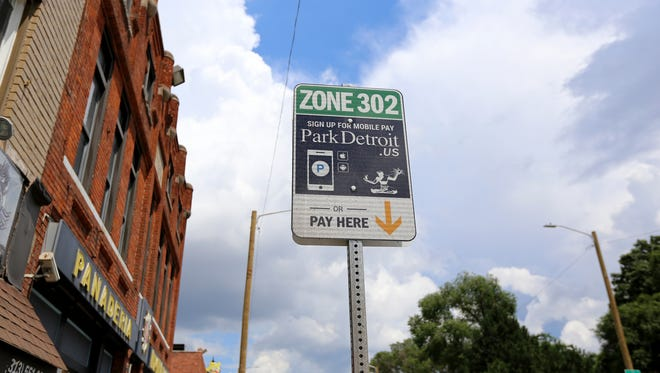 Parking Meters are seen in  southwest Detroit where parking was once free.