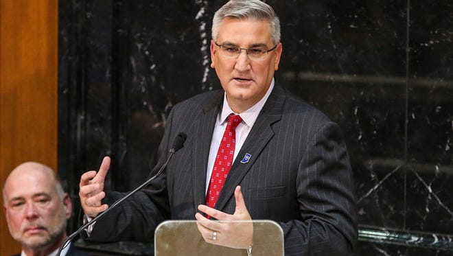 Gov. Eric Holcomb delivers his second State of the State address on Jan. 9 at the Indiana Statehouse.
