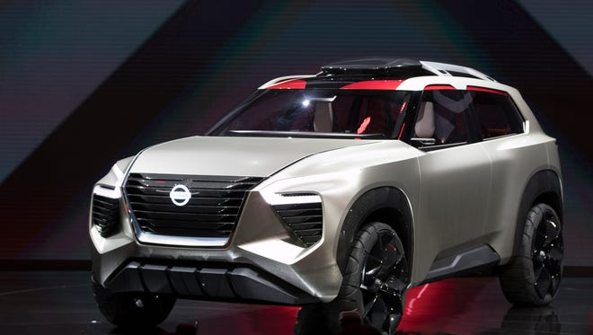 Nissan unveils the Nissan Xmotion concept during the 2018 North American International Auto Show.