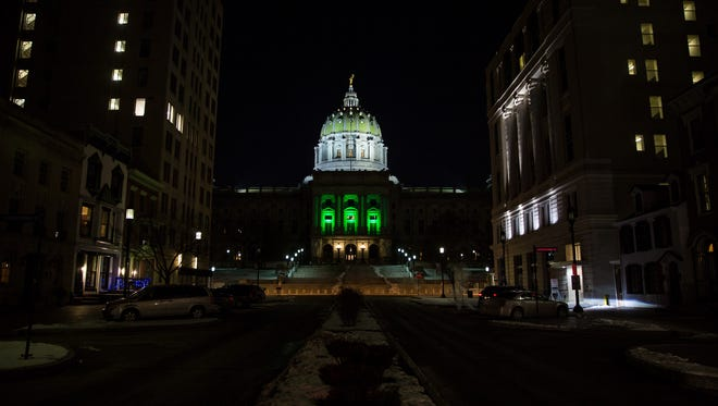 Gov. Wolf announced today that the Pennsylvania State Capitol building will be lit green to support the Eagles.