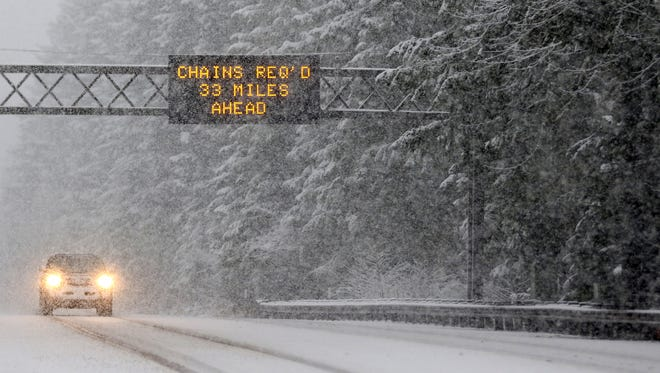 Snow is expected in the Cascade Foothills and Coast Range this Thursday and Friday
