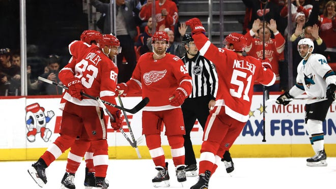 The Detroit Red Wings haven't won more than four games in a row so far this season. They're hoping shooting the puck more will lead to more victories down the stretch.