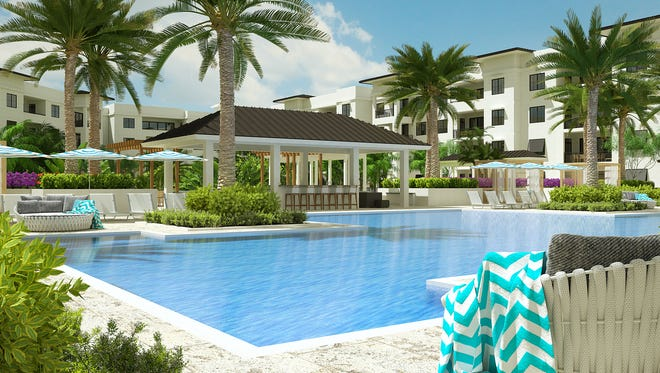 Scheduled for completion in Phase I, Eleven Eleven Central's 60,000-square-foot courtyard amenity deck will feature a resort style pool with a beach entry and two 90-foot lap lanes.