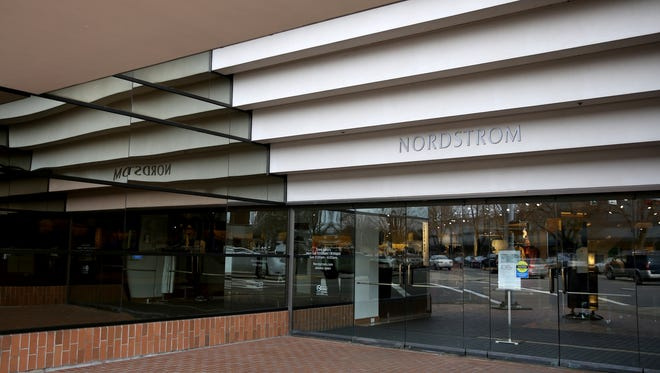 Nordstrom at the Salem Center Mall is set to close in April. Photographed in downtown Salem on Wednesday, Jan. 31, 2018.