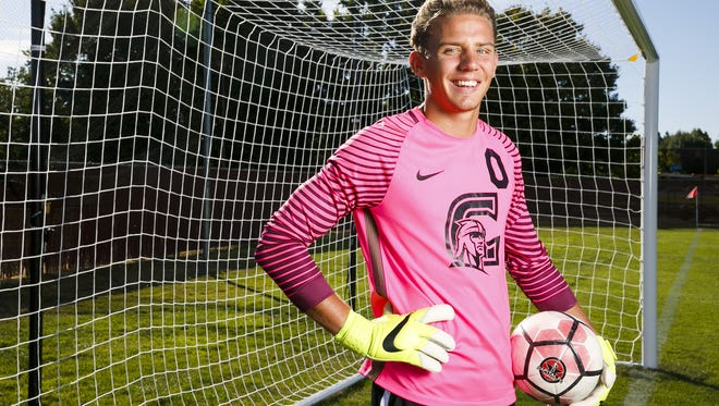 Corban University goalkeeper Jordan Farr was an NAIA All-American and set a school record with 44 career shutouts.